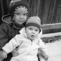first snow black & white